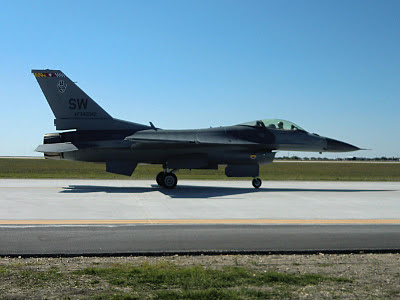 Randolph Air Force Base 2011 Air Show: F-16 Viper East Demo - Taxing