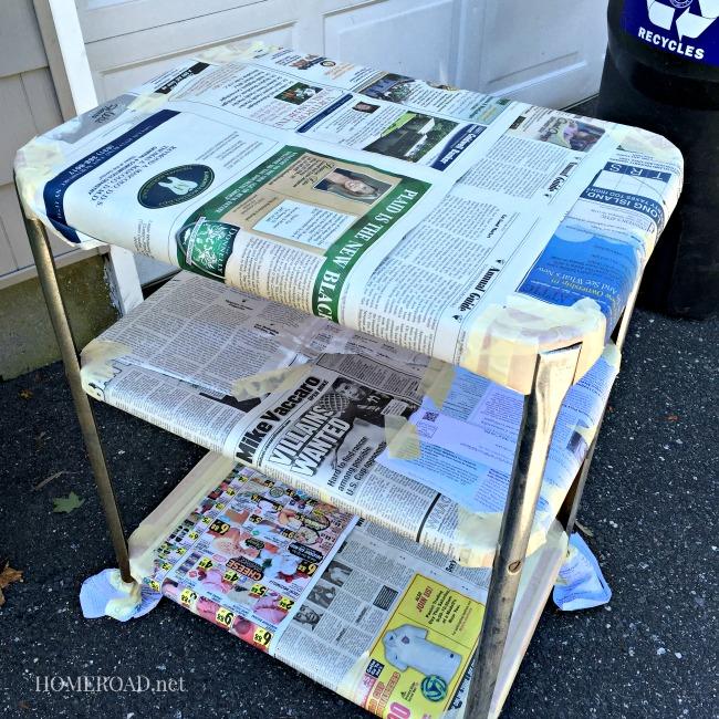 Vintage Rolling Metal Cart www.homeroad.net