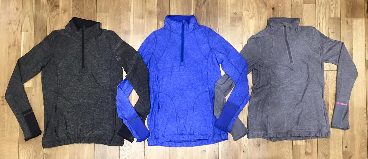 lululemon pace pusher half zip