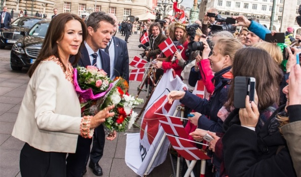 Crown Princess Mary and her husband Prince Frederik, are on a working visit to Germany entitled 'Danish Living' until 21 May 2015