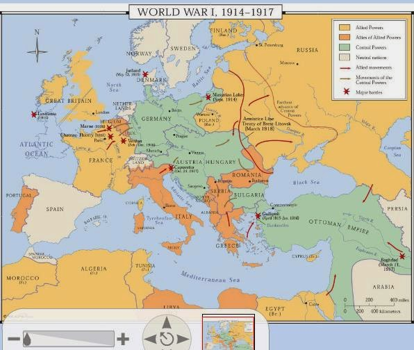 Windows To The Past - Europe map after world war1
