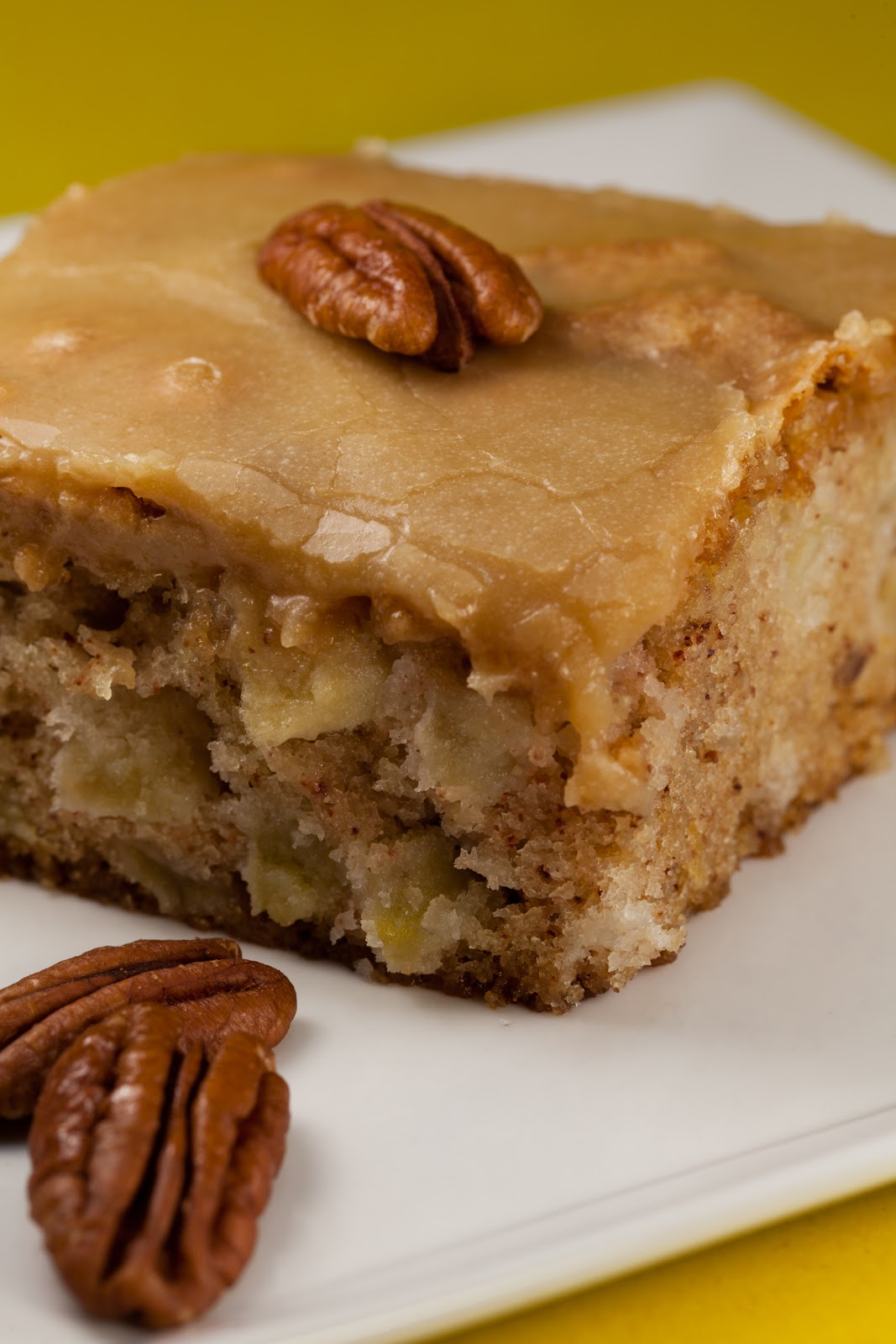 Apple Cake With Caramel Icing