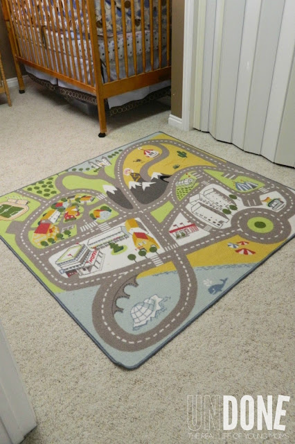 {The UNDONE Blog} Boy's Nursery - car mat, for play and style