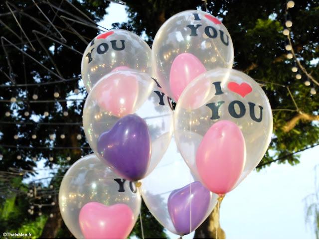 ballon baudruche I Love You coeur dans un ballon  Hanoï, Vietnam