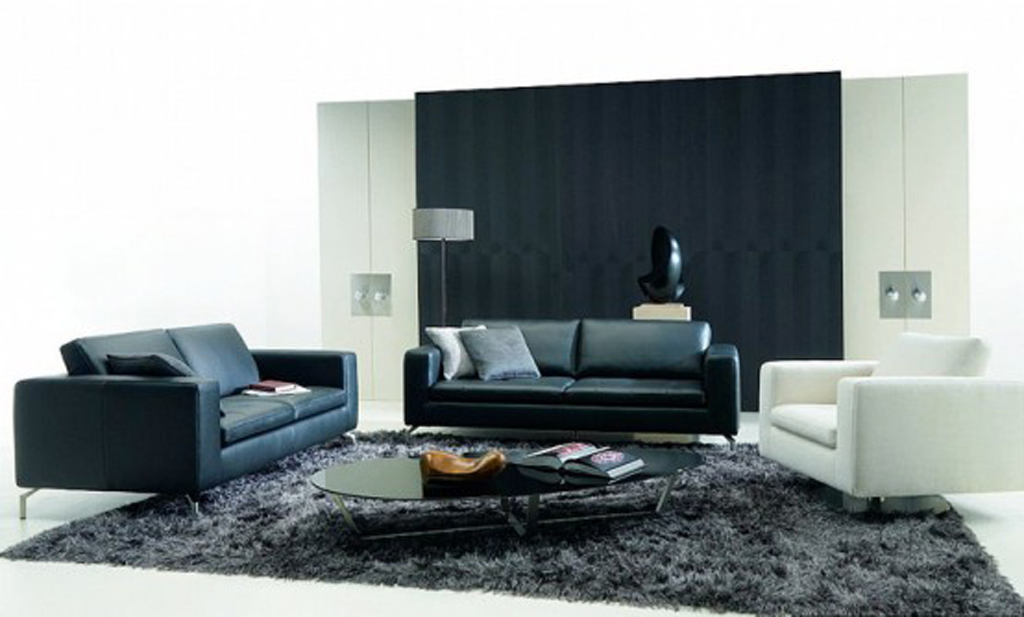 Black and white living room design ideas - Black and white living room ...