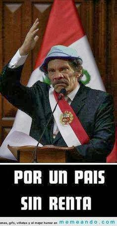 Por pais sin renta vote Don Ramon