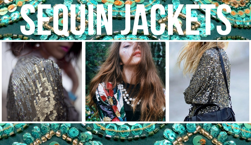Sequin Bomber Jackets, Blazers and Biker Jackets