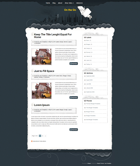 On The Go Blogger Template