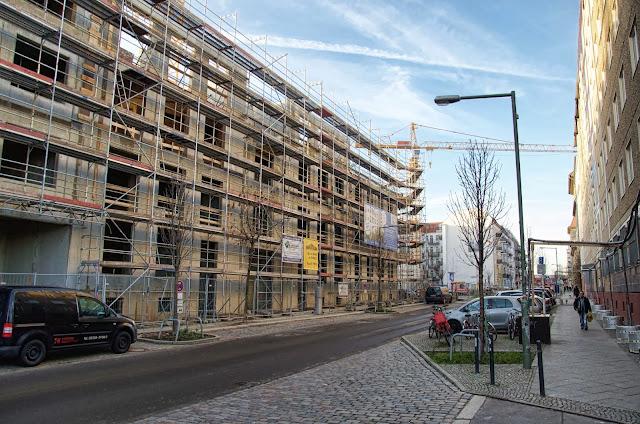 Baustelle Bänsch Quintett, Dolziger Straße / Pettenkoferstraße, 10247 Berlin, 07.01.2014
