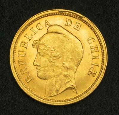 Chilean Gold Coins 10 Pesos