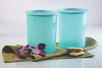 Tupperware One Touch Canister 2 ltr set of 2