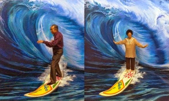 4 Gambar Aksi Comel Tun Mahathir Hasmah Di Muzium 3D Langkawi