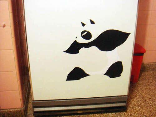 cách trang trí tường nhà hình gấu Panda