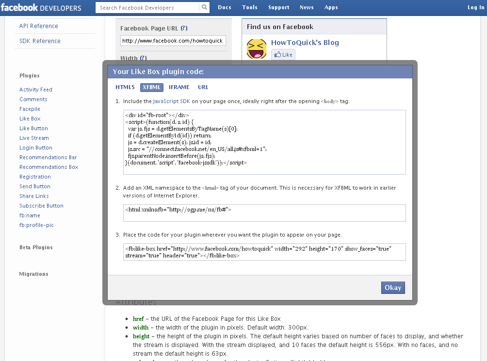 Facebook Like Box Customize Like Box Facebook Plugins Code