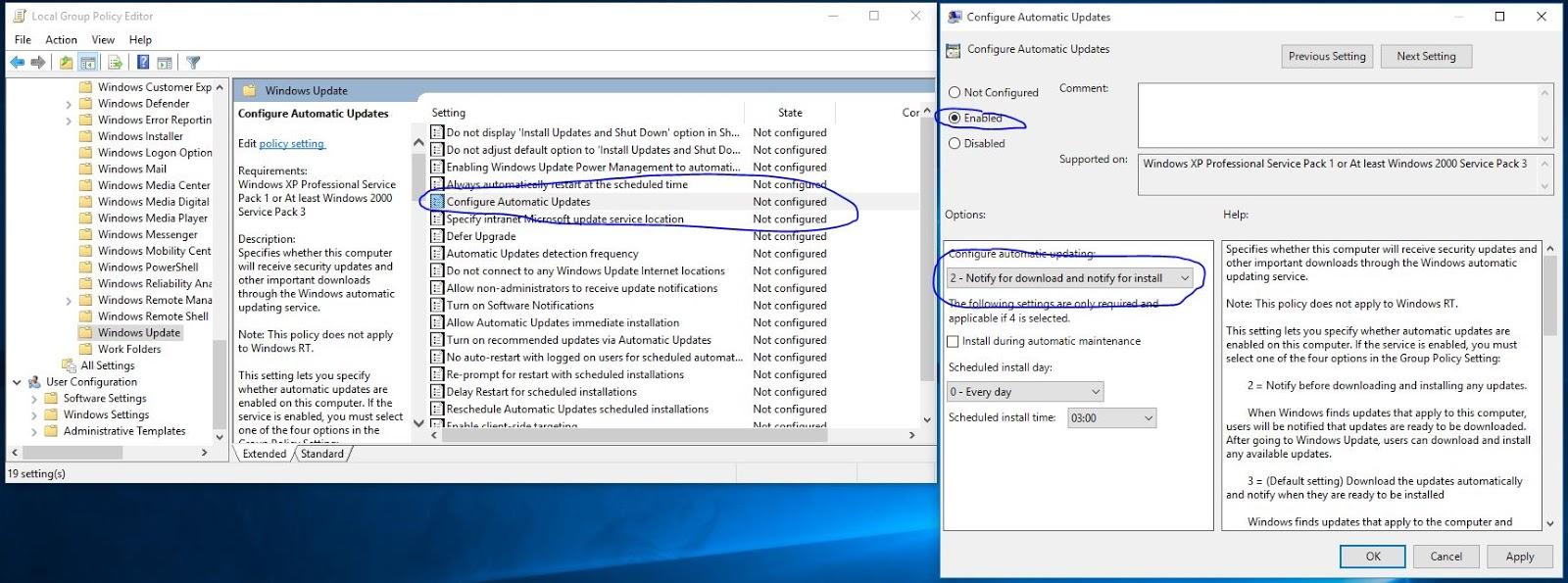 windows 10 home disable restart update