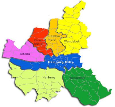 Hamburg Karte von Bundesländer