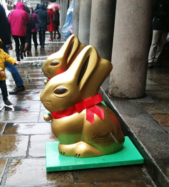 A photo of Lindt Bunnies at Covent Garden