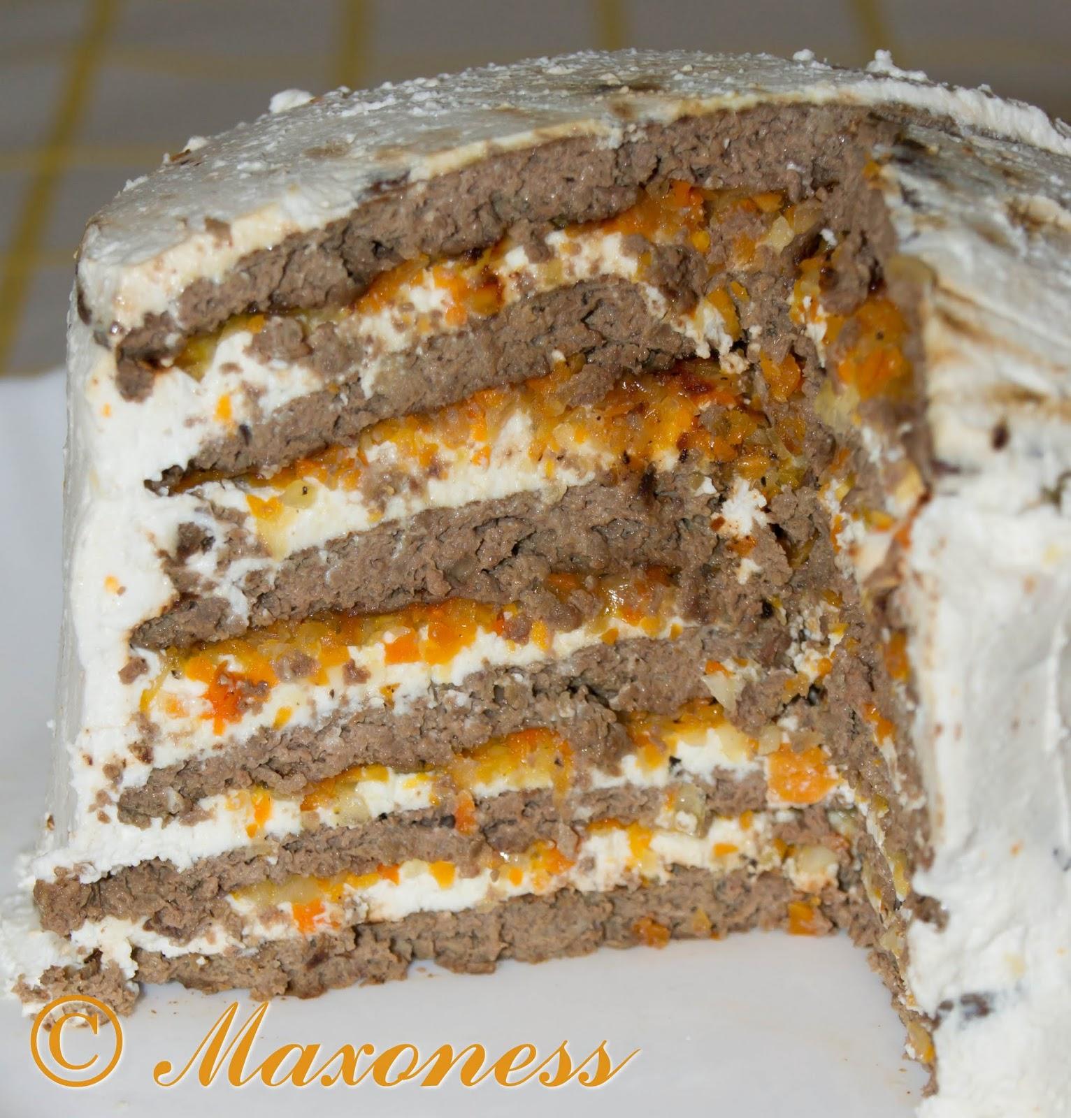 Печеночный торт из говяжьей печени