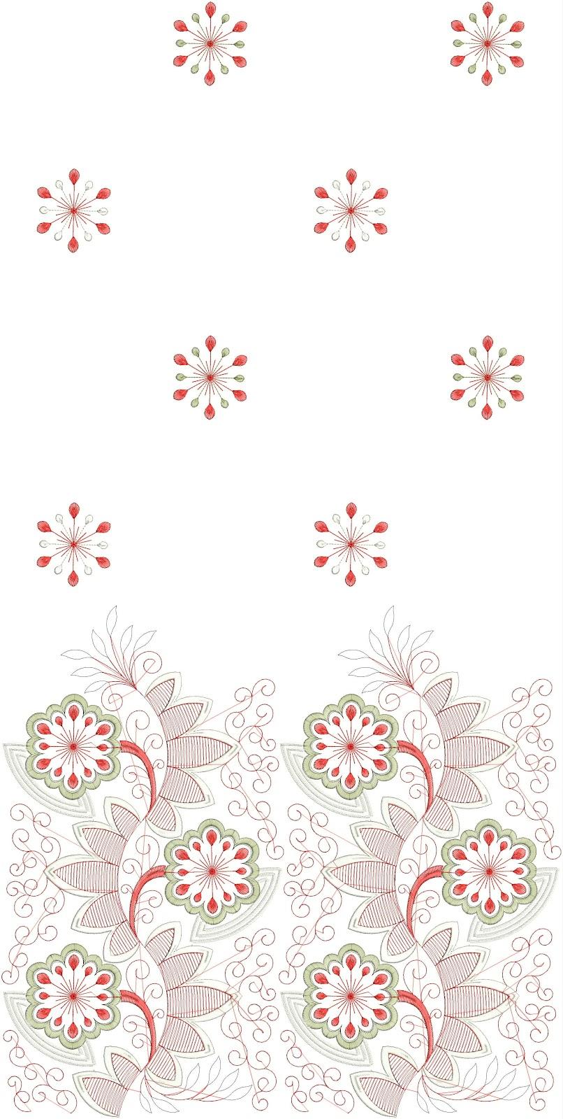 Embdesigntube punjabi wedding dress daman embroidery designs