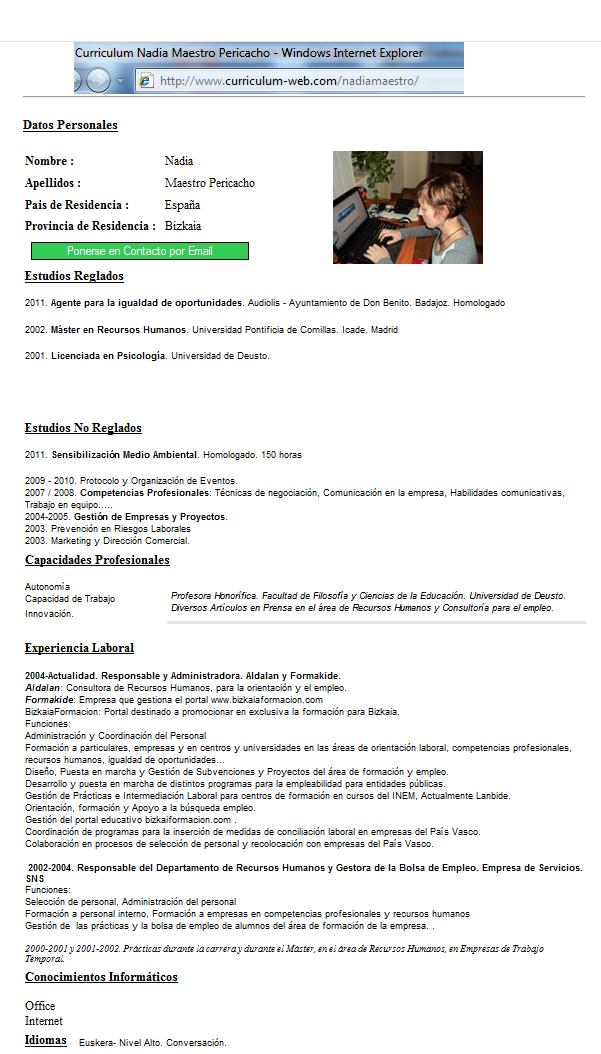 El Blog de Aldalan: El currículum web en estado puro, desde Aldalan ...