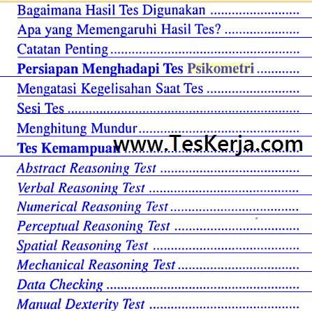 Download Contoh Soal Tes PSIKOMETRI Online / Offline Gratis
