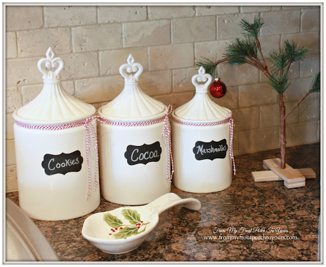 Vintage Farmhouse Christmas Kitchen-Charlie Brown Tree-Christmas Vignette-From My Front Porch To Yours