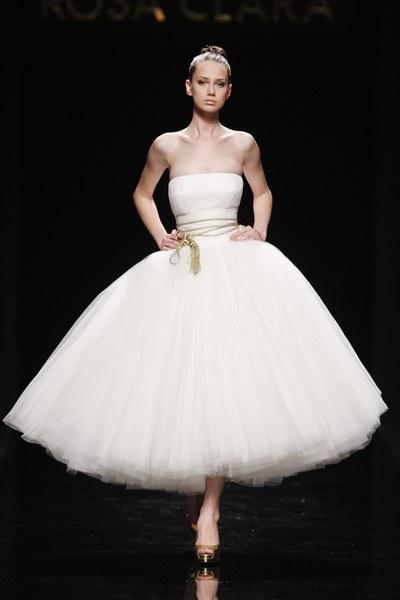 I Heart Wedding Dress Gaudi Novias Tea Length Wedding Dress