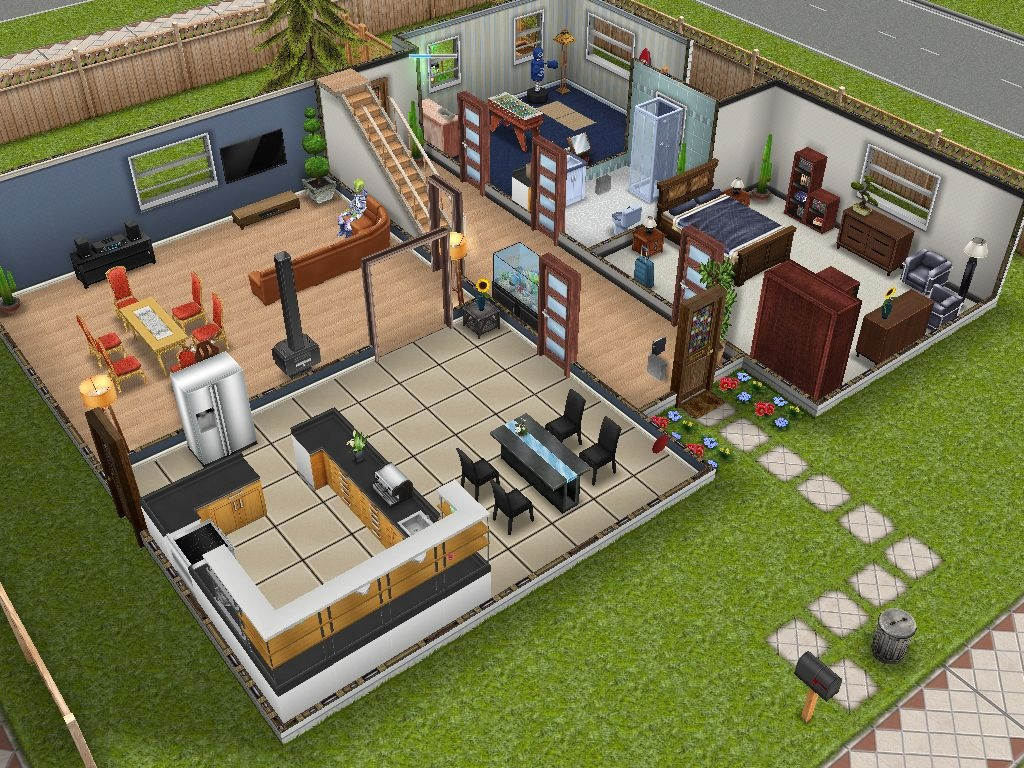 Sims freeplay pt a minha primeira casa for Casa de diseno the sims freeplay