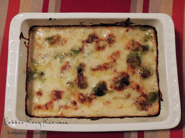 Bobbi's Kozy Kitchen: Brussels Sprouts Gratin for #SRC
