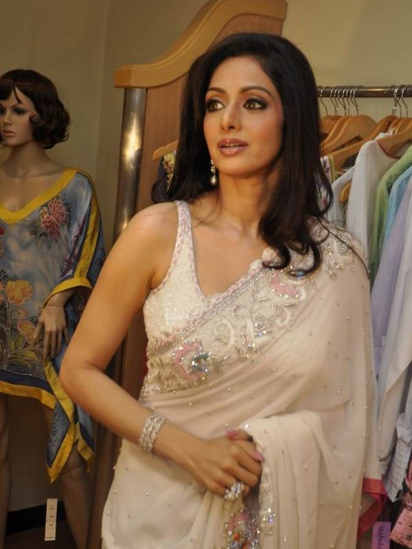 Sridevi in Sexy White Saree