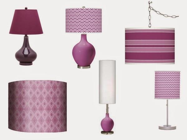 Lampy purpurowe