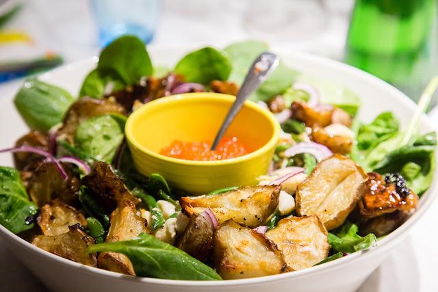 hauki,lämmin salaatti