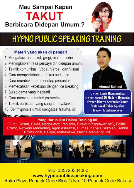 kursus public speaking murah jakarta ahmad baihaqi www.hypnopublicspeaking.com
