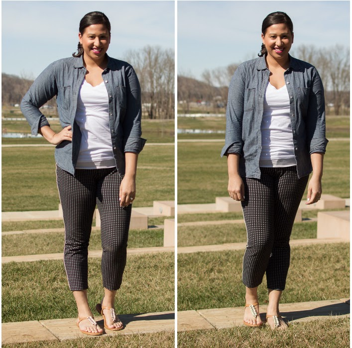 Spring Outfit Inspiration: Chambray + Pixie Pants >> the-lifestyle-project.com