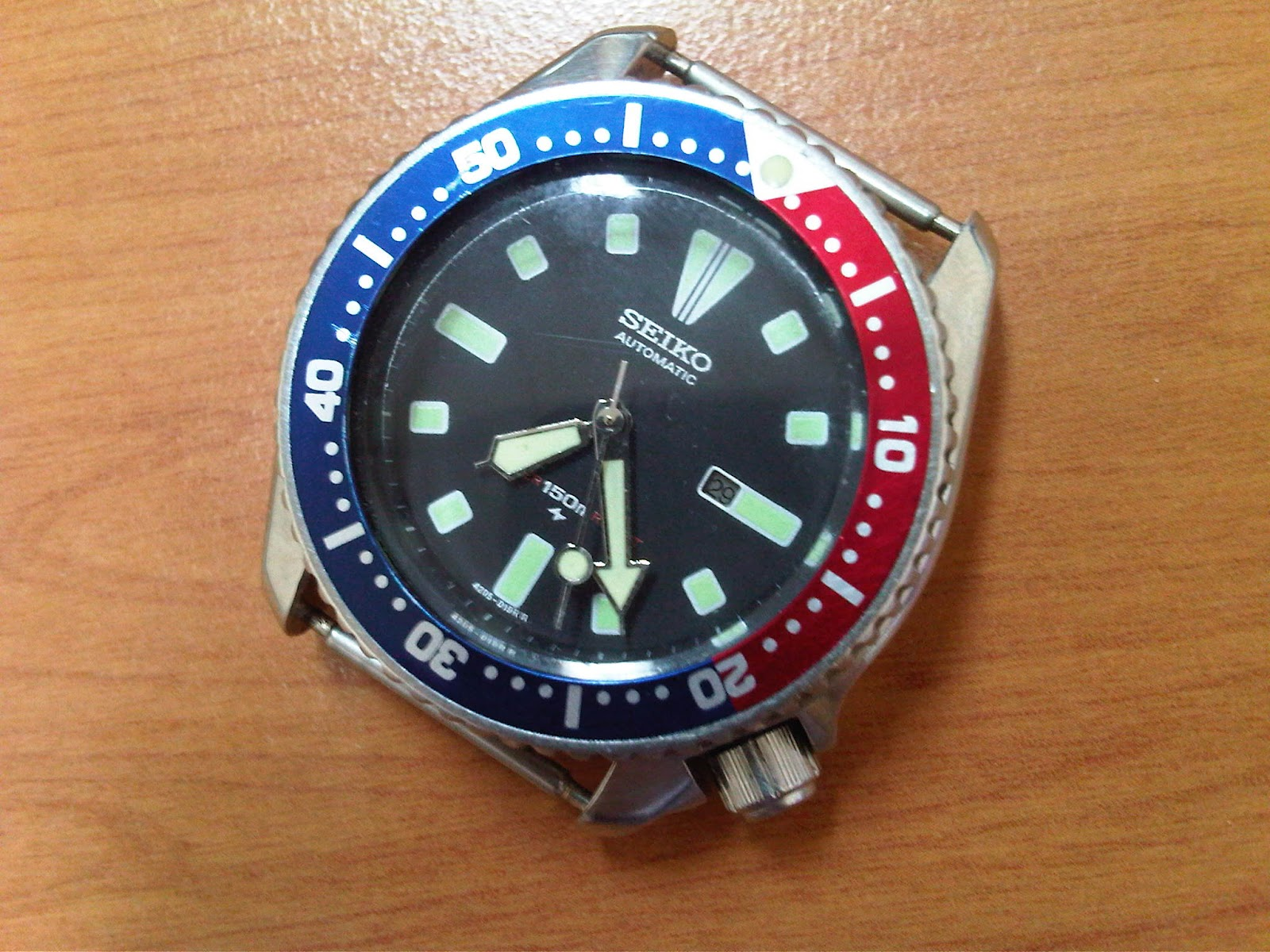 watches lover sold seiko pepsi diver 4205 mid size ca 84