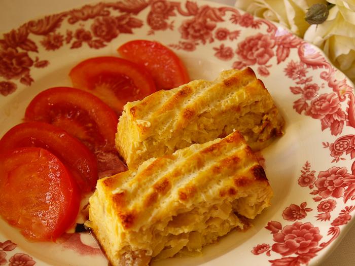 pastel de lombarda manzana y patata la receta aqu