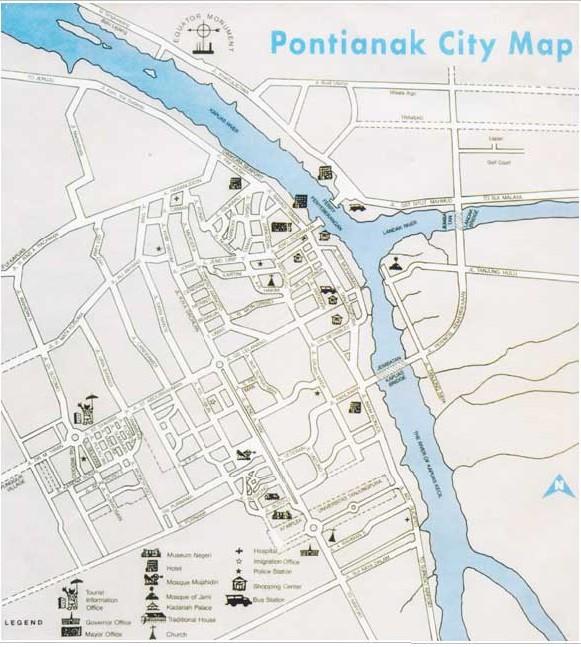Amazing Indonesia Pontianak City Map