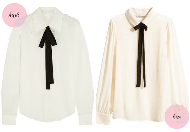 Ioanna's Notebook - High vs. Low Bow tie blouse