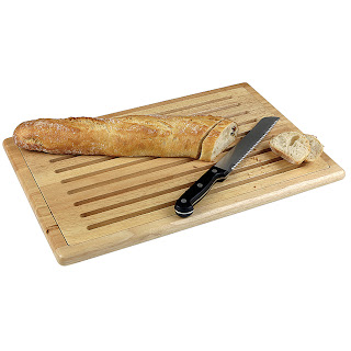 Tocator Baguette cu gratar detasabil din lemn cu 4 picioare anti-alunecare  475x322 mm