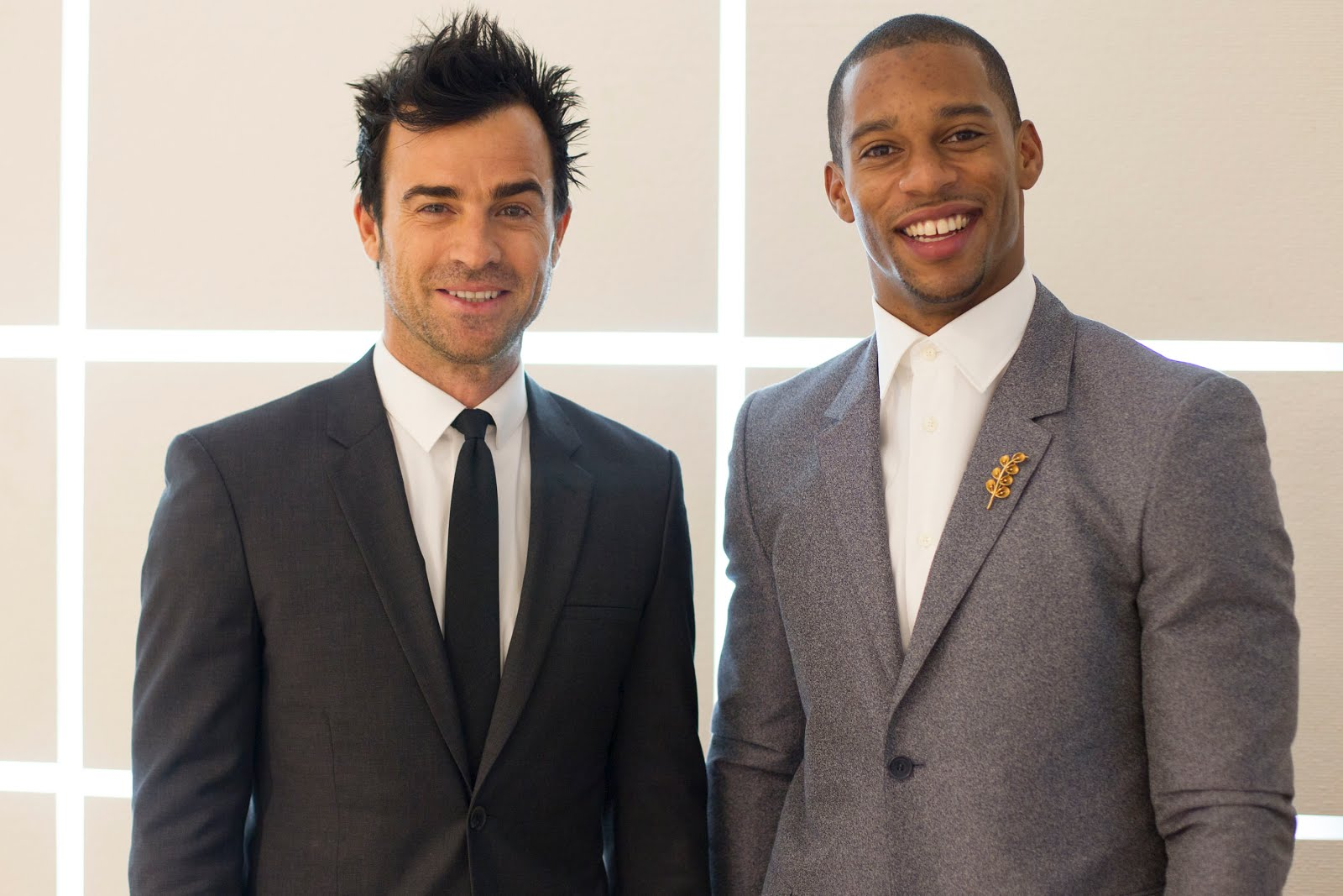 00O00 Menswear Blog Justin Theroux and Victor Cruz in Calvin Klein - Calvin Klein Menswear Fall Winter 2013, #MFW