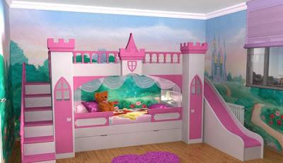 Dormitorio para ni as cama tobog n dormitorio para mujeres for Dormitorios para 4 ninas