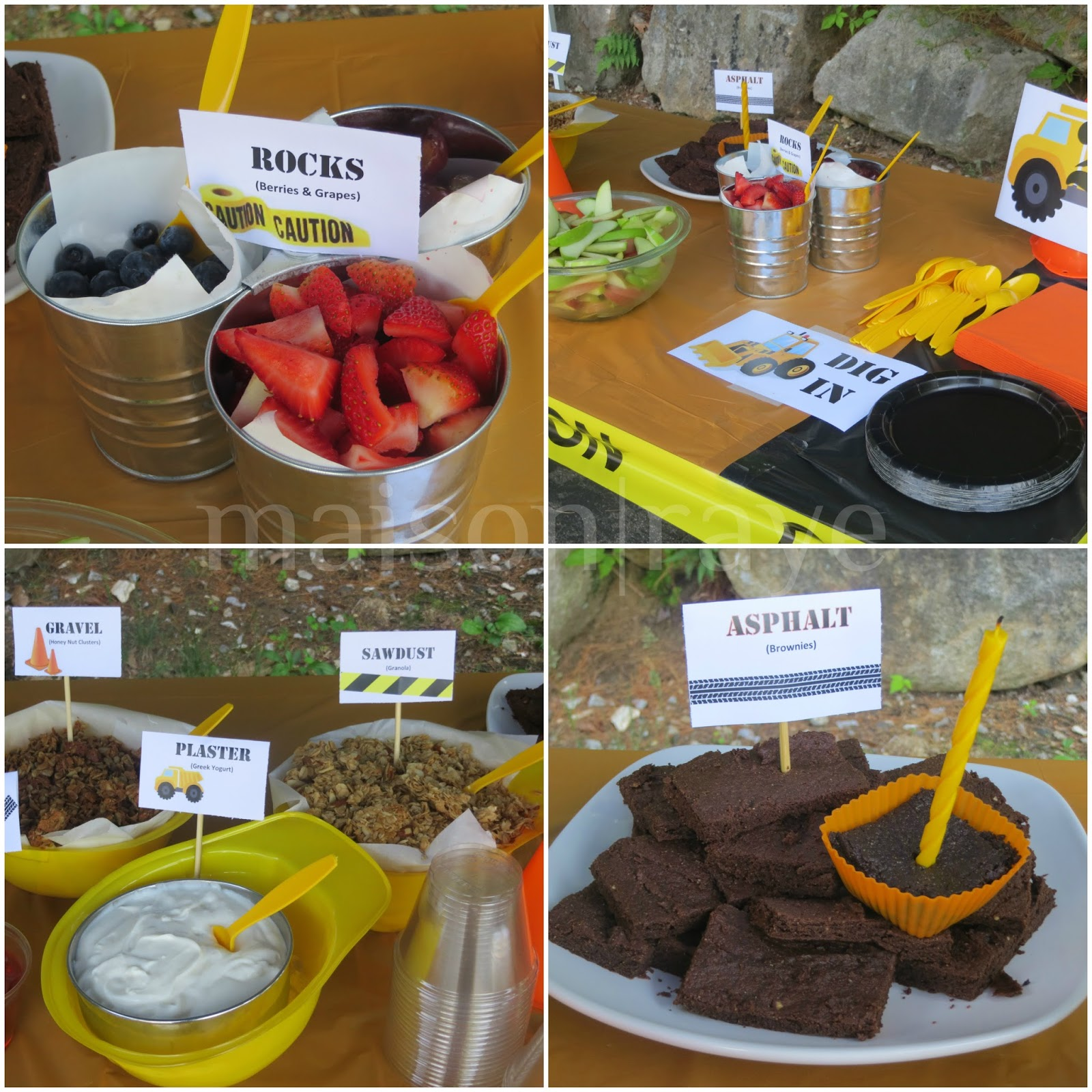 Construction Birthday Party Food Ideas: Raye: Ry Guy's Construction Theme 2nd Birthday Party