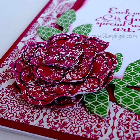 Stampin' Up! Secret Garden Stamp Set paper flower idea
