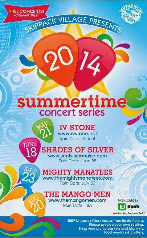 skippack events calender 2014 - summer concert series