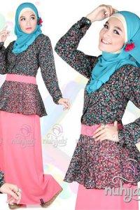 Nuhijab DJS Afra Adara - Black Pink (Toko Jilbab dan Busana Muslimah Terbaru)