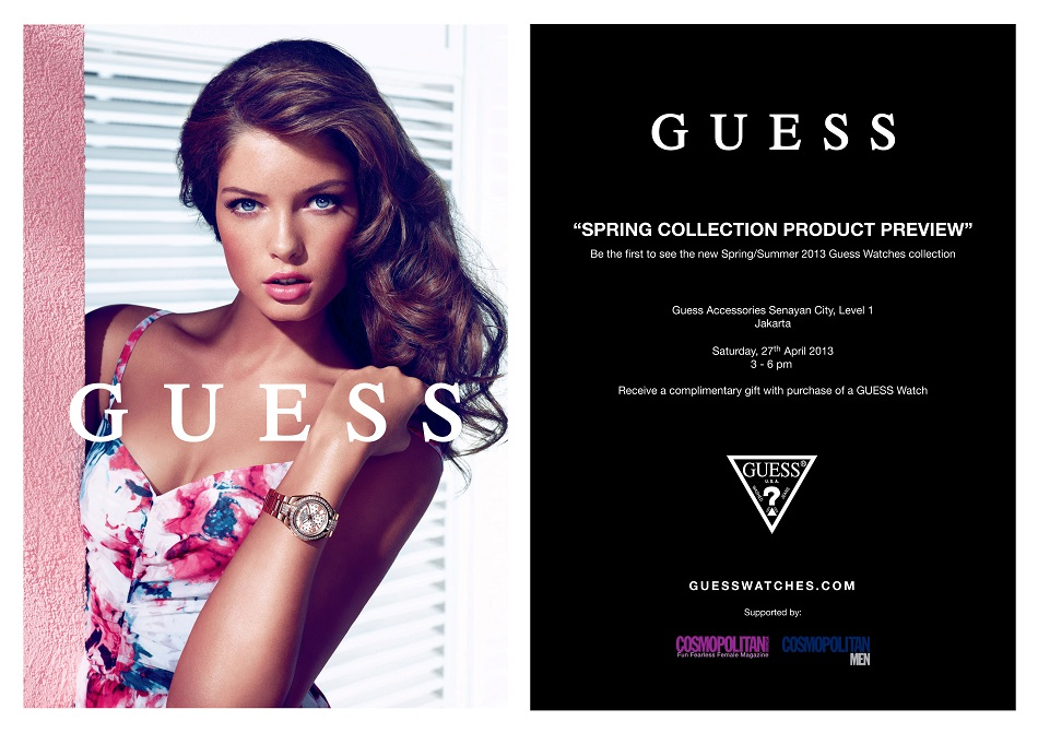 GUESS WATCHES SPRING 2013 EVENT