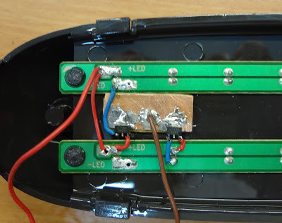 modified emergency light with lithium ion battery