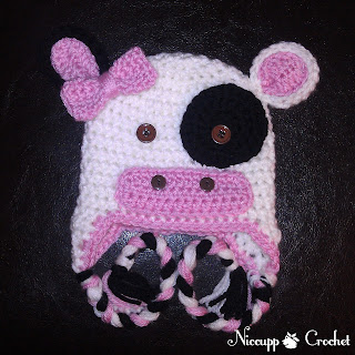 {NiccuppCrochet} Cow hat