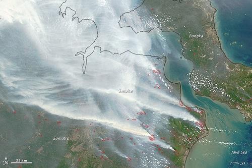 Gambar satelit NASA 'titik merah' di Sumatera punca keadaan jerebu