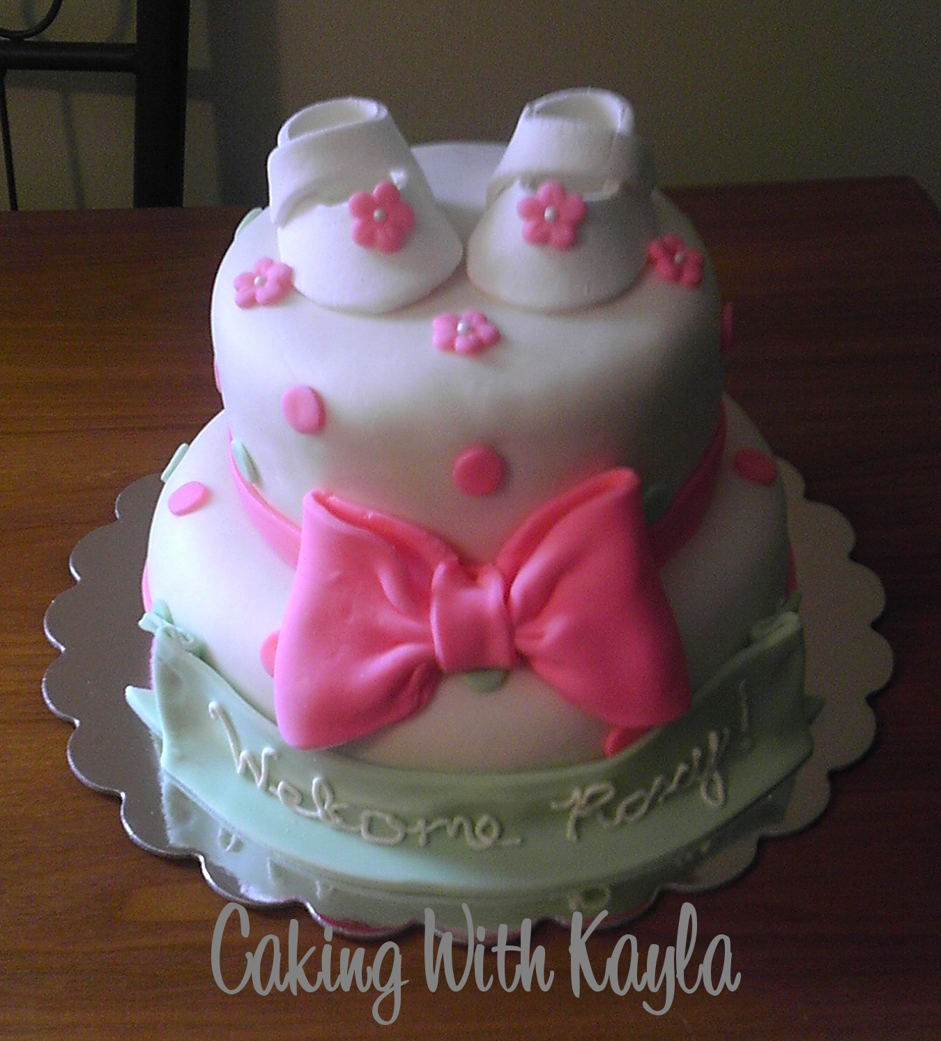 Caking With Kayla Pink And Green Baby Shower